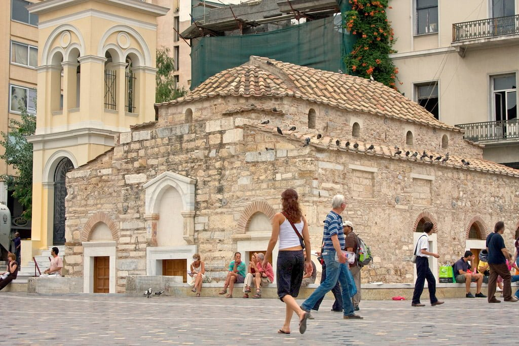 Pantanassa church or the Church of the Dormition of the Virgin Mary in Monastiraki, Athens Greece